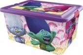 Caixa arrumação brinquedos 23 litros Trolls