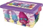 Caixa arrumação brinquedos 7 litros Trolls