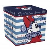 Caixa arrumação + Puff  Minnie Mouse