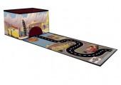 Caixa arrumação + tapete de jogos Cars Disney