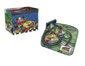 Caixa arrumação + tapete de jogos Mickey Roadster Racers