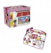 Caixa arrumação + tapete de jogos Minnie Disney
