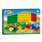 Caixa com 3 Bases Coloridas Unico Plus
