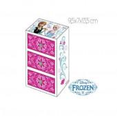 Caixa de jóias de madeira c/ 3 gavetas Frozen Disney sortido