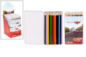 Caixa Metal 12 Lápis de Cor Cars