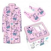 Caixa Metal + Robe + Pantufas Porquinha Peppa