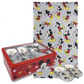 Caixa Metálica + Chinelos + Manta Mickey Disney