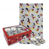 Caixa Metálica + Chinelos + Manta Mickey