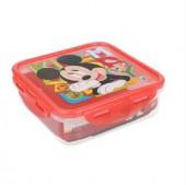 Caixa Recipiente Quadrado Mickey 750ml