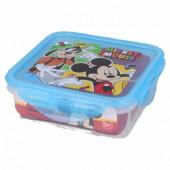 Caixa Recipiente Quadrado Mickey Azul 500ml