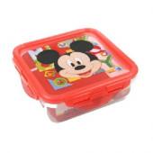 Caixa Recipiente Quadrado Mickey Vermelho 500ml