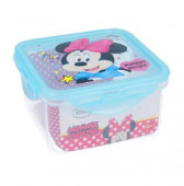 Caixa Recipiente Quadrado Minnie Disney 730ml
