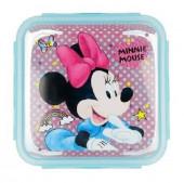 Caixa Recipiente Quadrado Minnie Disney 750ml