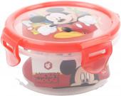 Caixa Recipiente Redondo Mickey Vermelho 270ml