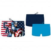 Calção Banho Boxer Capitão América Sortido