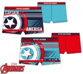 Calção Banho Boxer Capitão América Stripes Sortido