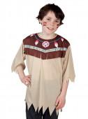 Camisa disfarce de índio selvagem