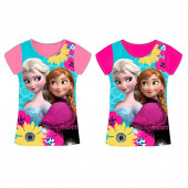 Camisola azul e rosa de manga curta Frozen