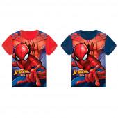 Camisola azul e vermelha de manga curta Spiderman