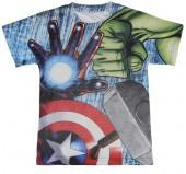 Camisola T-Shirt  3D de Avengers