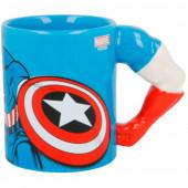 Caneca 3D Braço Capitão América