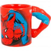 Caneca 3D Braço Spiderman Marvel