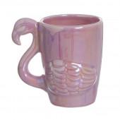 Caneca Cerâmica 3D Flamingo