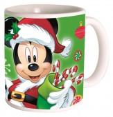 Caneca cerâmica de Mickey Mouse - Natal