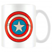 Caneca Cerâmica Escudo Capitão América Avengers