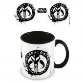 Caneca Cerâmica Star Wars Mandalorian Bounty Hunter