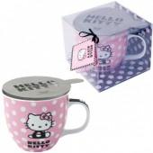 Caneca de ceramica com tampa Hello Kitty