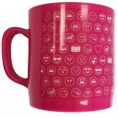 Caneca mosaico rosa Emoji