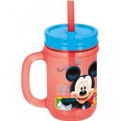 Caneca plastico c/ palhinha Mickey