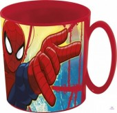 Caneca plástico micro-ondas 350ml Spiderman - Red Webs