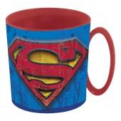 Caneca plástico micro-ondas 360 ml Superman