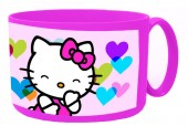 Caneca plástico micro-ondas 450ml de Hello Kitty - Hearts