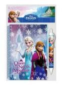 Caneta + bloco Frozen Sisters Queen
