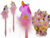 Caneta unicornio com led