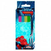 Canetas feltro 6 cores Ultimate Spiderman Marvel