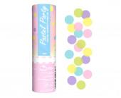 Canhão Confettis Cores Pastel 15cm
