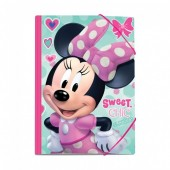 Capa A4 c/ Elásticos Minnie - Sweet Chic