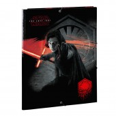 Capa A4 com elásticos Star Wars VIII -The Last Jedi