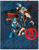 Capa A4 Elásticos Avengers Assemble