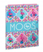 Capa A4 Elásticos Moos Flamingo Turquesa