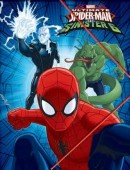 Capa com Elasticos A4 Spiderman Ultimate vs Sinister 6