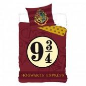 Capa Edredon 9 3/4 + almofada Hogwarts Express Harry Potter