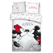 Capa Edredon Casal Love Minnie e Mickey 240x220cm Disney
