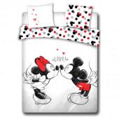 Capa Edredon Casal Love Minnie e Mickey Disney 240x220cm