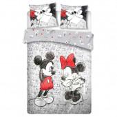 Capa Edredon Casal Minnie e Mickey Cartoon Disney 240x220cm