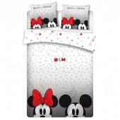 Capa Edredon Casal Minnie e Mickey Eyes Disney 240x220cm